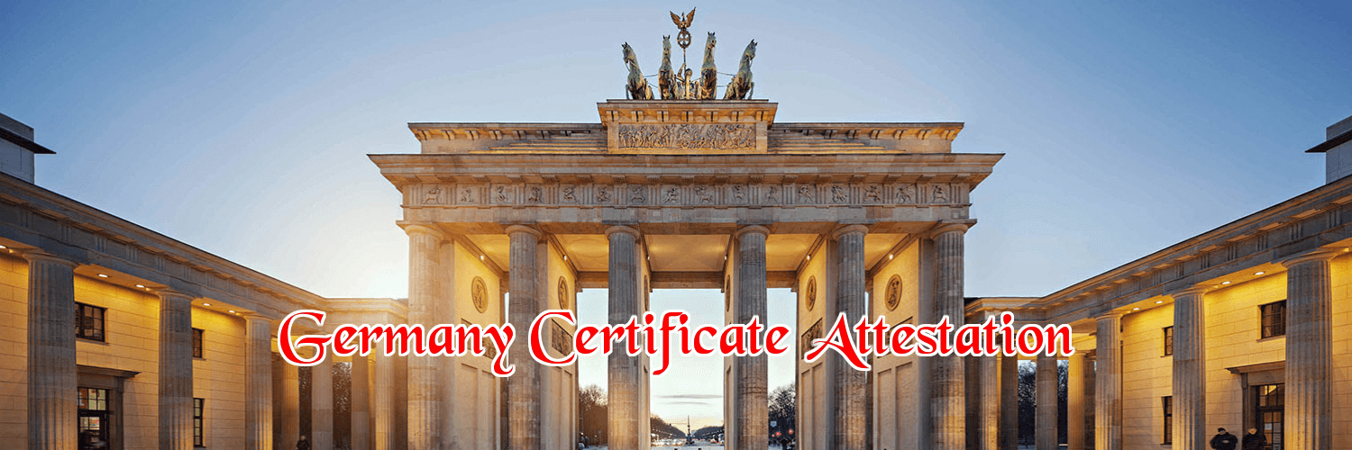 Germany certificate attestation