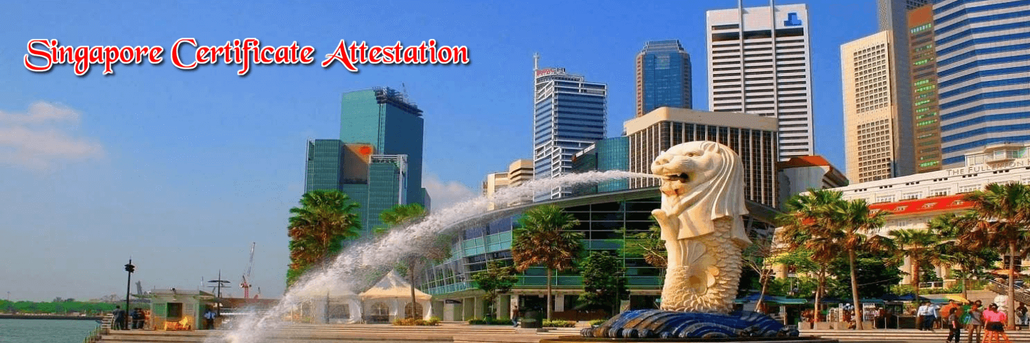 singapore certificate attestation