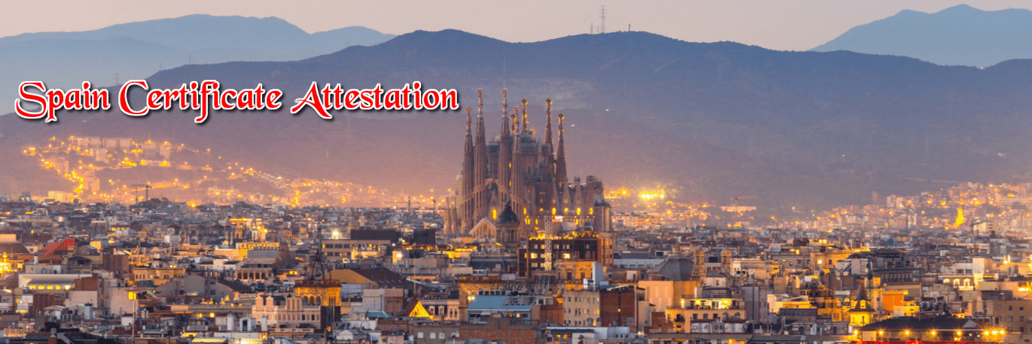 spanish certificate attestation