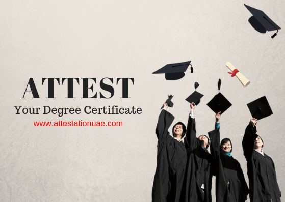 degree certificate attestation