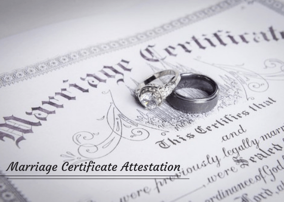 marriage certificate attestation